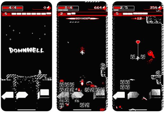 ジャンプアクションゲーム「Downwell」がApp Storeでセール中!