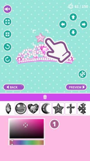 自分だけのティアラを作ろう!「プリンセスティアラメーカー」がアプリストアで配信開始!