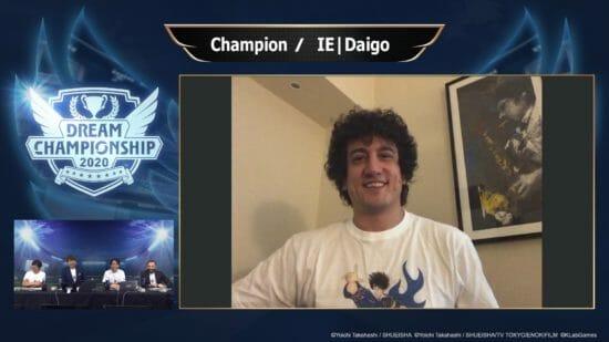 「キャプテン翼 ~たたかえドリームチーム~」の世界大会「Dream Championship 2020」でイタリアの「IE|Daigo」選手が優勝!
