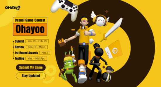 最高賞金は10万ドル!世界中のゲーム開発社を対象に、Ohayooがカジュアルゲームコンテストを実施!
