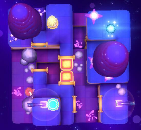 二人のキャラクターを操作してゴールを目指す箱庭パズルゲーム「ナユタとほうき星の旅」