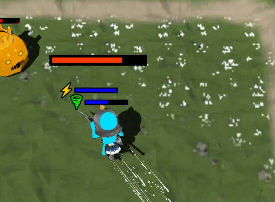 ぶつかって相手を倒す引っぱりアクションゲーム「バトルストライカー」