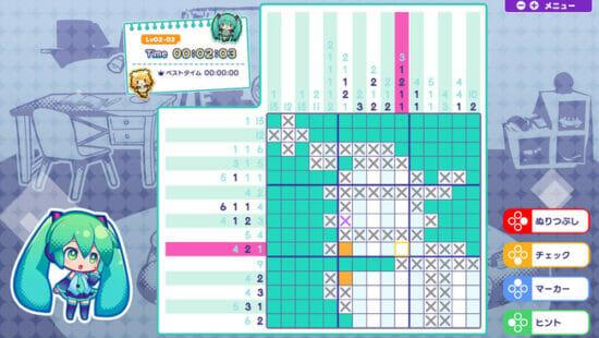 Switch向けパズルゲーム「初音ミク ロジックペイントS」が発売開始!アプリ版からパズルやイラストの収録数が増加