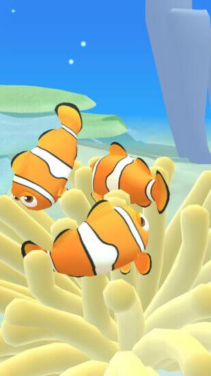 スマホ向け「さかなのすみか」のiOS版が配信開始!熱帯魚や深海魚など様々な魚を育てる育成ゲーム