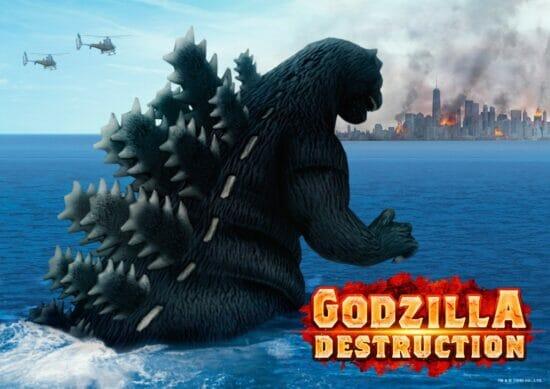 スマホ向け「ゴジラ デストラクション」が配信開始!簡単操作で都市を破壊するアクションゲーム