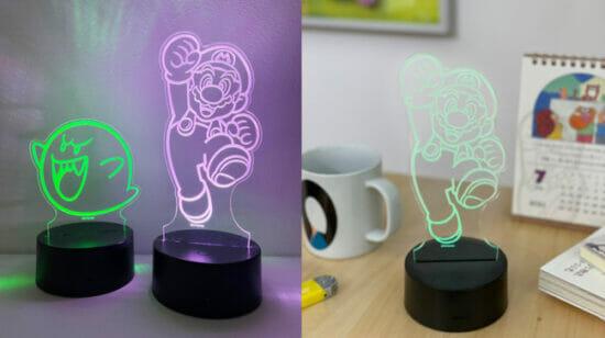 マリオとテレサが可愛らしく光る!「スーパーマリオ アクリルLEDライト」が7月1日から限定発売