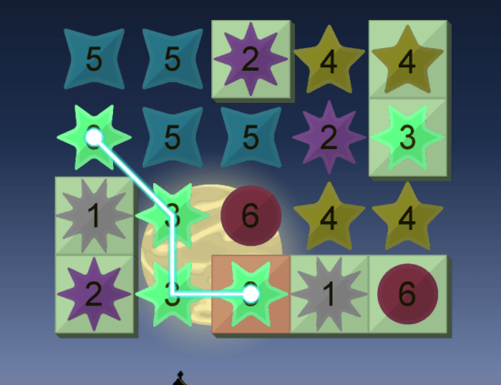 星をあつめて夜空に輝く星座を組み立てるパズルゲーム「ほしのかたち 星と星座のパズル」