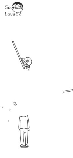 身体をスライドさせて頭をかぶせるカジュアルゲーム「あたま」