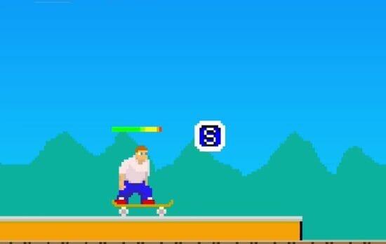 障害物を乗り越えてゴールを目指すスケボーゲーム「Am Skater」