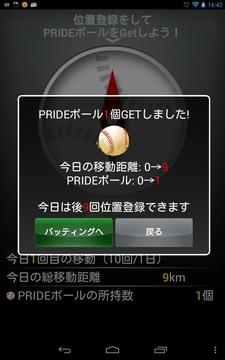 位置登録PRIDEボール