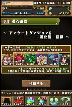 アンケートダンジョン6道化龍初級3